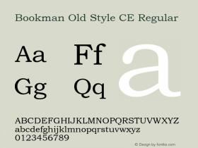Bookman Old Style CE Regular Version 1.4 - East European character set Font Sample