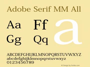 adobe serif mm normal font free download