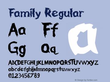 Family Regular Version 1.00 May 16, 2011, initial release Font Sample
