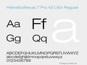 HelveticaNeueLT Pro 43 LtEx Regular Version 1.000;PS 001.000;Core 1.0.38 Font Sample