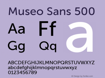 Museo Sans 500 1.000 Font Sample