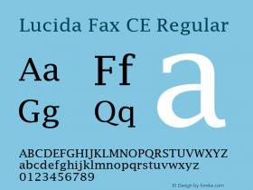 Lucida Fax CE Regular Version 1.01 Font Sample