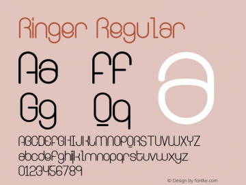 Ringer Regular Version 001.000 Font Sample
