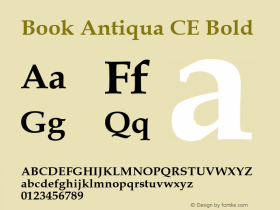 Book Antiqua CE Bold Version 1.4 - East European character set Font Sample