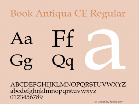 Book Antiqua CE Regular Version 1.4 - East European character set Font Sample