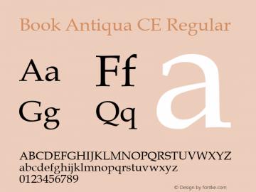Book Antiqua CE Regular Version 1.4 - East European character set Font Sample