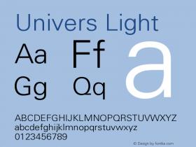 Univers Light Version 001.001 Font Sample