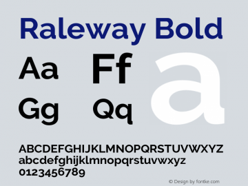 Raleway Bold Version 3.000g; ttfautohint (v1.5) -l 8 -r 28 -G 28 -x 14 -D latn -f cyrl -w G -c -X