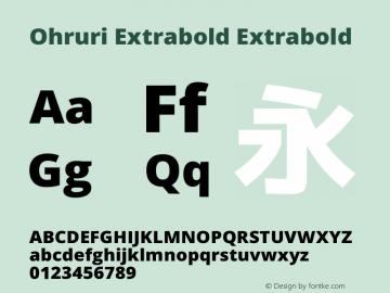 Ohruri Extrabold Extrabold Ohruri-20150606 Font Sample