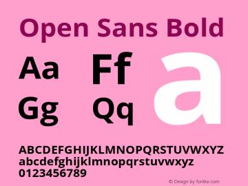 Open Sans Bold Version 1.10 Font Sample