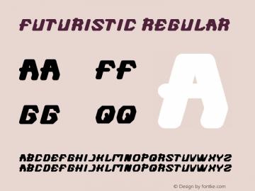 FUTURISTIC Regular Version 1.00 October 5, 2012, initial release图片样张