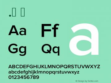 .  Version 1.000;PS 001.000;hotconv 1.0.38 Font Sample