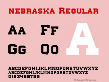 nebraska Regular Version 1.00 January 26, 2013, initial release, www.yourfonts.com图片样张