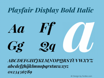 Playfair Display Bold Italic Version 1.005; ttfautohint (v1.2) -l 10 -r 42 -G 200 -x 21 -D latn -f latn -w G -X