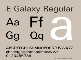 E Galaxy Regular Converted from U:\HOME\PEARCE\AT\TTFONTS\ST000029.TF1 by ALLTYPE Font Sample