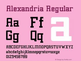 Alexandria Regular Converted from C:\TTFONTS\ALEXANDR.TF1 by ALLTYPE Font Sample