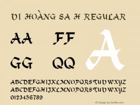 VI Hoàng Sa H Regular Unknown Font Sample