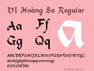 VI Hoàng Sa Regular Unknown Font Sample