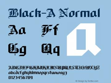 Black-A Normal 1.0 Tue Aug 24 12:16:45 1993 Font Sample