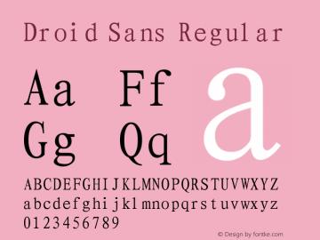 Droid Sans Regular Version 1.00 September 4, 2015, initial release Font Sample