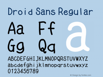 Droid Sans Regular Version 1.00 build 114图片样张