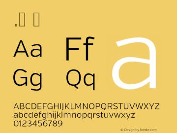 .  Version 2.002 Font Sample