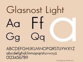 Glasnost Light Altsys Fontographer 3.5  6/26/92 Font Sample