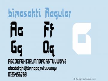 bimasakti Regular Version 1.00 June 19, 2014, initial release Font Sample
