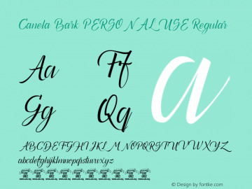 Canela Bark PERSONAL USE Regular Version 1.000 Font Sample