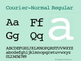 Courier-Normal Regular Converted from c:\windows\russ_fon\ST000002.TF1 by ALLTYPE Font Sample