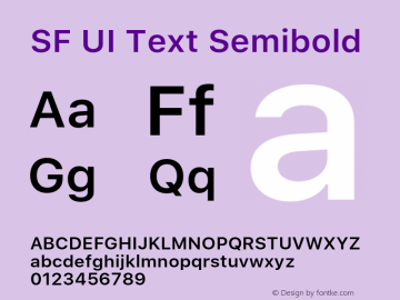 SF UI Text Semibold 11.0d59e2 Font Sample