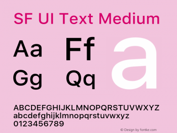 SF UI Text Medium 11.0d59e2 Font Sample