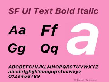 SF UI Text Bold Italic 11.0d59e2 Font Sample