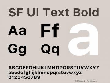 SF UI Text Bold 11.0d59e2 Font Sample