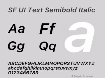 SF UI Text Semibold Italic 11.0d59e2 Font Sample