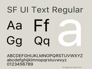 SF UI Text Regular 11.0d59e2 Font Sample