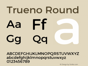 Trueno Round Version 3.001 Font Sample