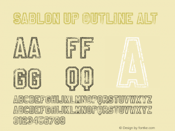 Sablon Up Outline Alt Unknown图片样张