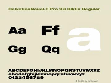 HelveticaNeueLT Pro 93 BlkEx Regular Version 1.000;PS 001.000;Core 1.0.38图片样张