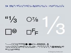 WP TypographicSymbols Regular Macromedia Fontographer 4.1 5/8/97 Font Sample