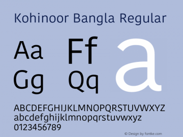 Kohinoor Bangla Regular 10.0d3e2 Font Sample
