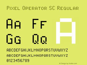 Pixel Operator SC Regular Version 1.4.2 (September 30, 2015)图片样张