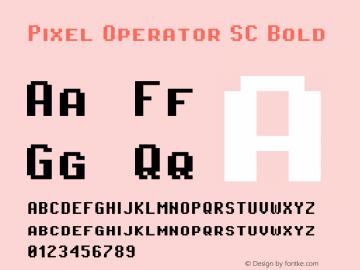 Pixel Operator SC Bold Version 1.4.2 (September 30, 2015)图片样张