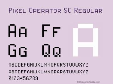Pixel Operator SC Regular Version 1.5.0 (October 25, 2015)图片样张