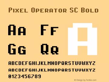 Pixel Operator SC Bold Version 1.5.0 (October 25, 2015)图片样张