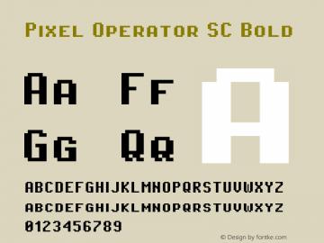 Pixel Operator SC Bold 2016.04.25图片样张