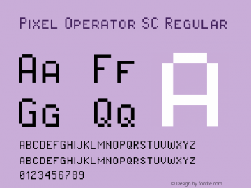 Pixel Operator SC Regular 2016.04.25图片样张