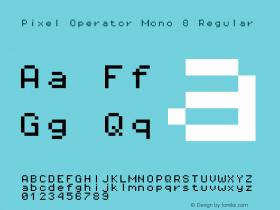 Pixel Operator Mono 8 Regular 2016.04.25图片样张
