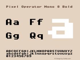 Pixel Operator Mono 8 Bold 2016.04.25图片样张
