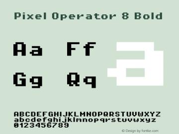 Pixel Operator 8 Bold Version 1.4.2 (September 30, 2015)图片样张